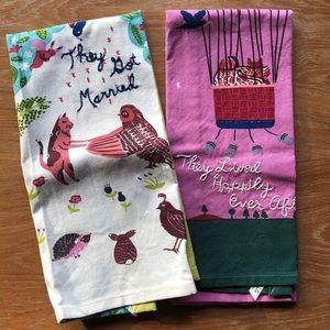 NWOT Sweet Anthro Fairytale Tea Towels